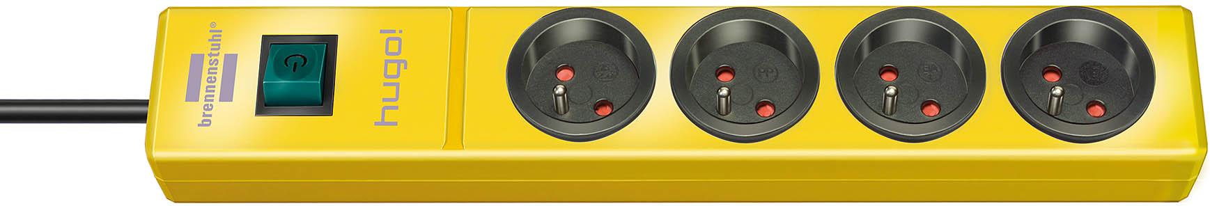 Przedłużacz listwowy listwa 2m żółty hugo niemiecki