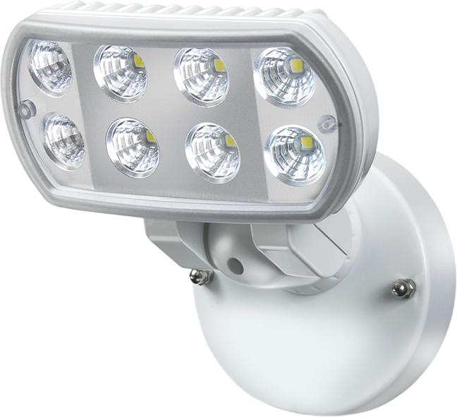 Lampa oprawa LED 8x1W 850lm hermetyczna Niemiecka IP55 Naświetlacz led brennenstuhl  biały mocne światło