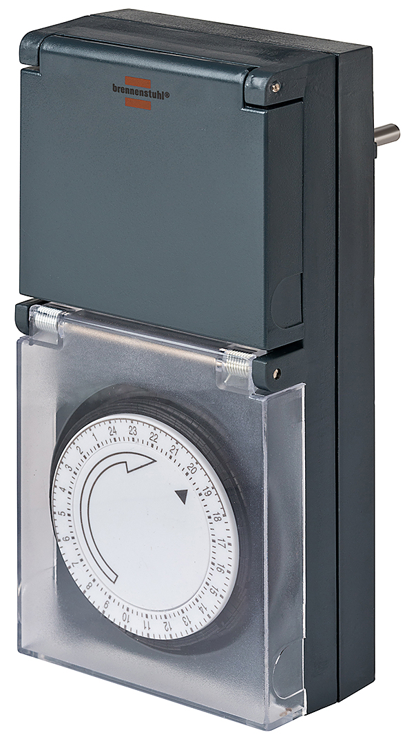 wyłącznik czasowy programator timer IP44 do ogrodu Timer Dobowy MZ 44 Brennenstuhl