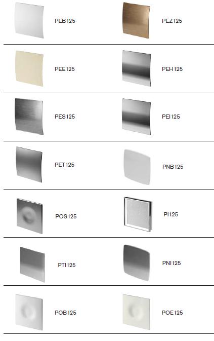 Wentylator łazienkowy domowy fi125 cichy energooszczędny kolory