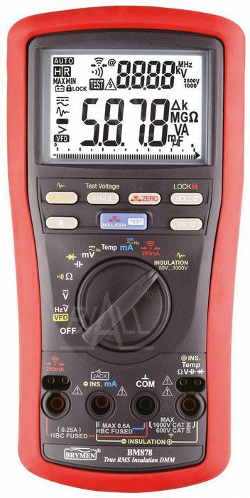 Miernik multimetr rezystancji izolacji BM878 Brymen trms