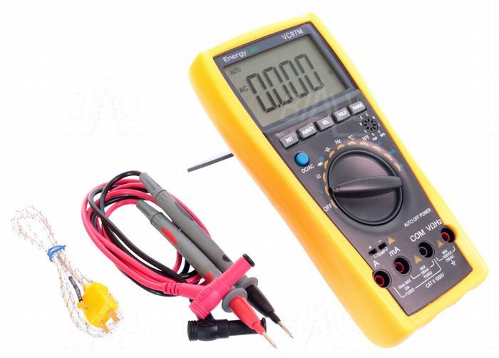 Multimetr miernik automatyczny pomiar temperatury EnergyLab