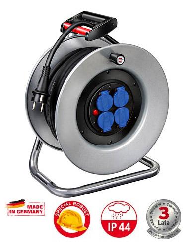 Przedłużacz bębnowy 25m GUMA 3x1.5 NIEMIECKI 3lata  GARANT S 240  przewód: GUMA H05RR-F 3x1,5 1198524130