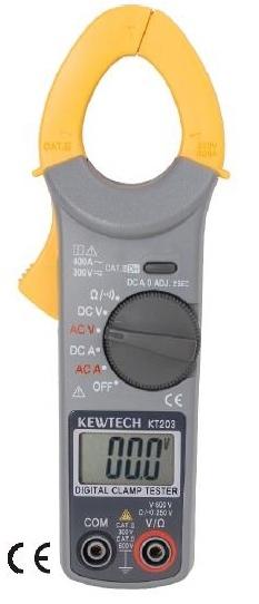 Miernik multimetr cęgowy KT203 AC DC 400A cęgówka Miernik amperomierz KEWtech