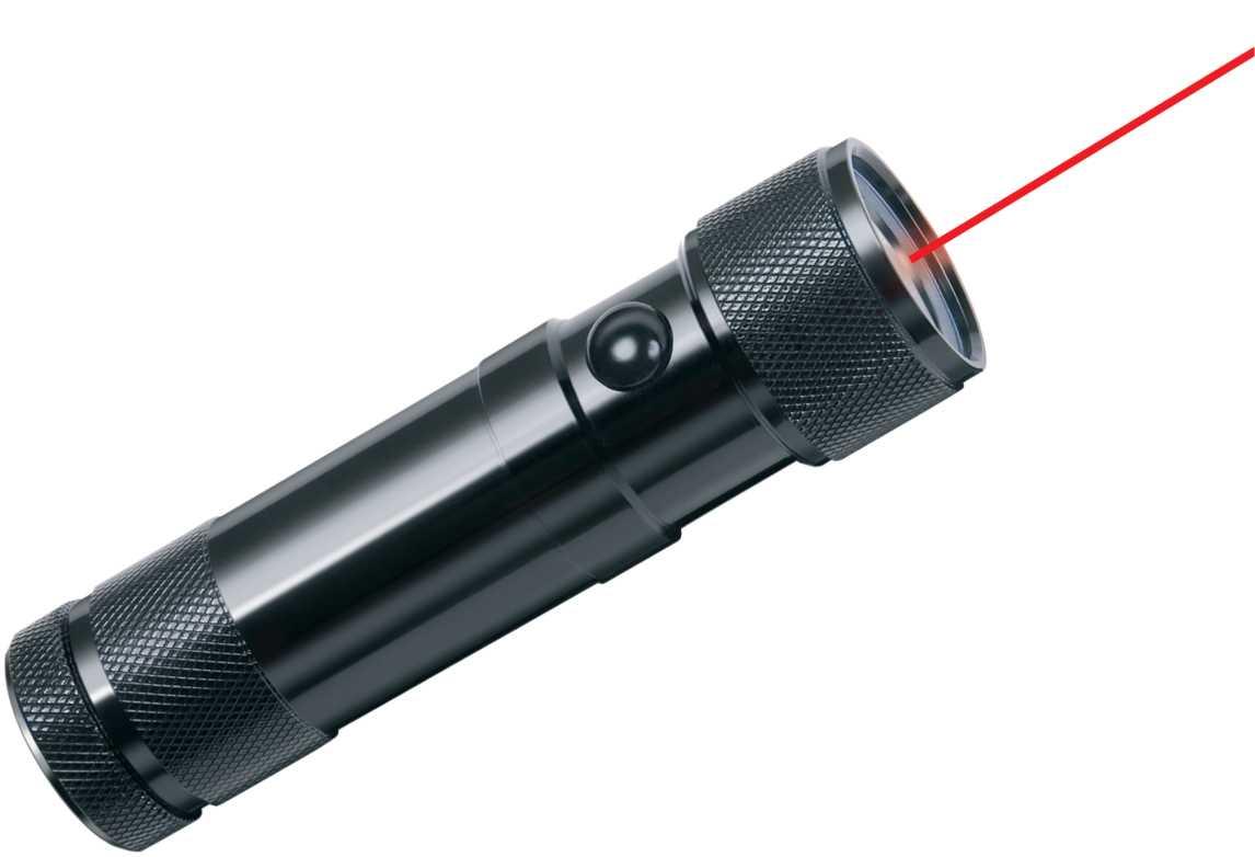latarka LED ze wskaźnikiem laserowym