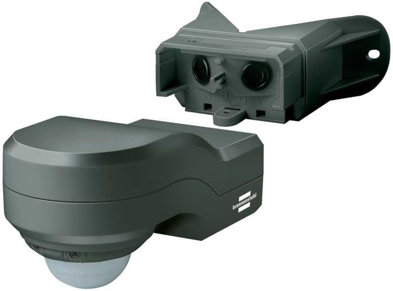 czujnik ruchu narożny detektor ruchu pir 240 antracyt