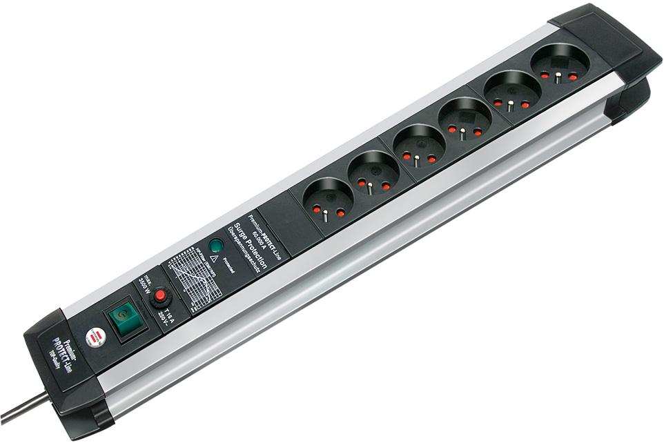 Listwa zasilająca przeciwprzepięciowa Premium-Protect-Line 60.000A 6gn
