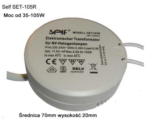 Zasilacz transformator puszka fi 70mm 105W 230/12