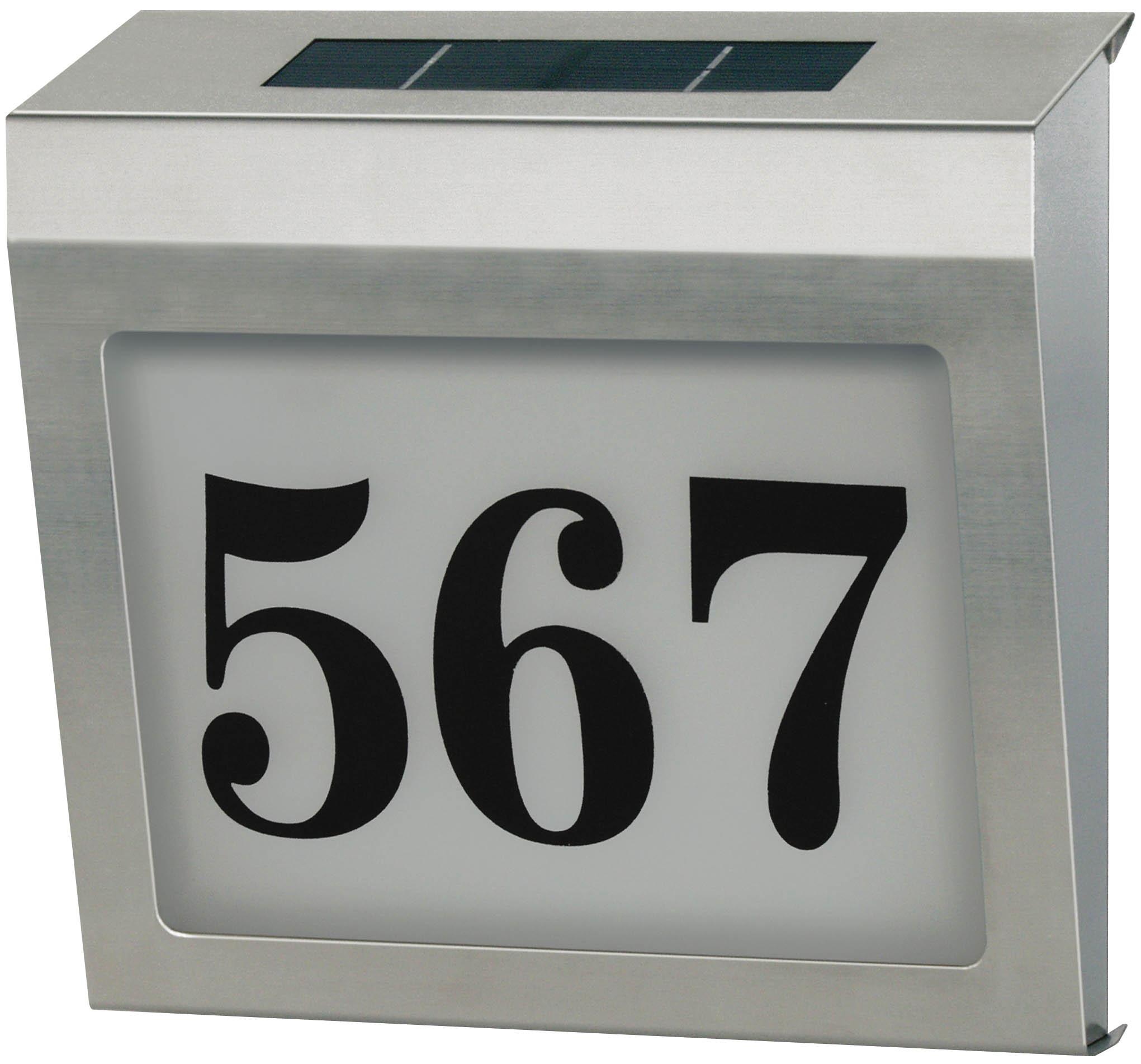 podświetlany solarny numer domu led niemiecki