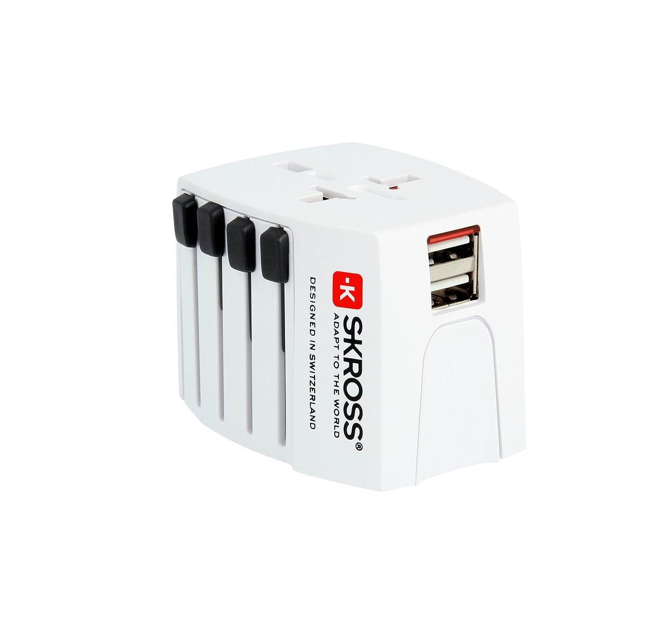 Uniwersalny adapter podróżny z ładowarką MUV USB 2.4a
